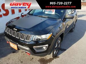 2017 Jeep Compass Trailhawk 4X4, REMOTE STARTER, BACK UP CAMERA,