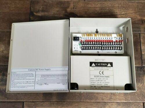 CCTV Security Camera Power Supply Distribution Box W-12VDC-18P/10A