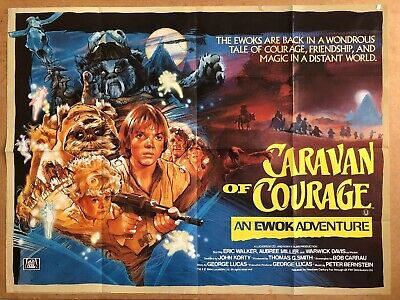Caravan Of Courage -Original British Quad Cinema Movie Poster, Star Wars - Ewoks