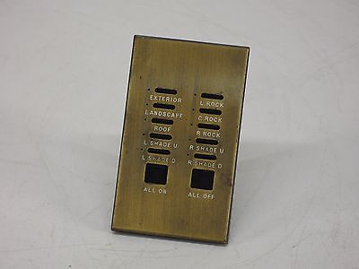 Lutron HomeWorks HWV-KP10 10 Button Architectural Keypad (Brass)
