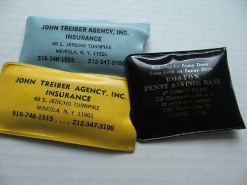 Vintage Rain Hat Advertise Insurance Agency NY Treiber Boston Penny Savings