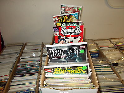 Lot of 50 DIFFERENT ALL Punisher & Moon Knight Marvel Comic Book Grab Bag Gift