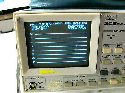 Sony Tektronix 308 Data Analyzer W P6451 Data Aquisition Probe Good Working