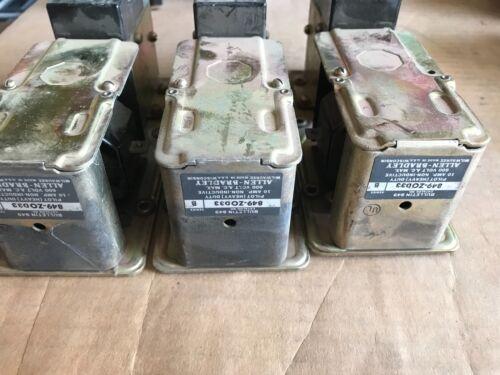 3x Allen Bradley 849-Z0D33 Pneumatic Time Delay Relays, used