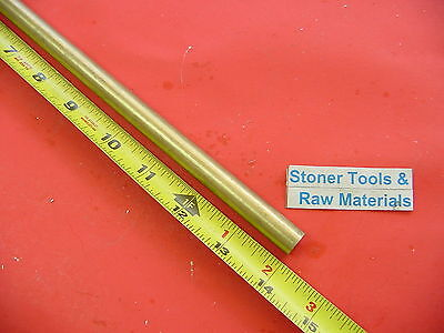 716 Diameter C360 Brass Solid Round Rod 14 Long New Lathe Bar Stock H02 .437