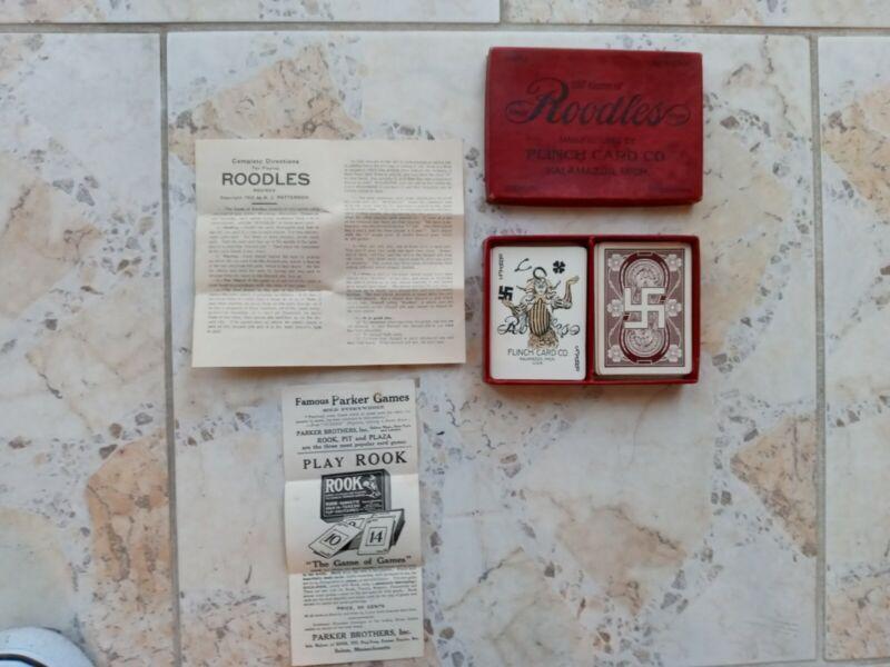 Vintage 1912  ROODLES Card Game Complete With Joker!!!