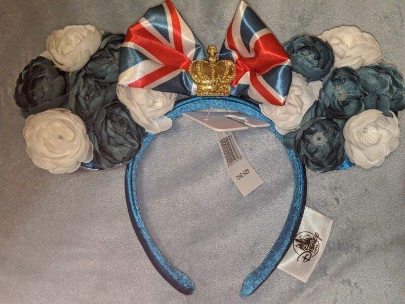 Disney Parks EPCOT United Kingdom Crown 2020 Floral Showcase Ears Headband NEW