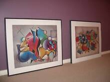 "Set of 2 Vibrantly coloured ""SUMO BAND"" paintings Adelaide CBD Adelaide City Preview"