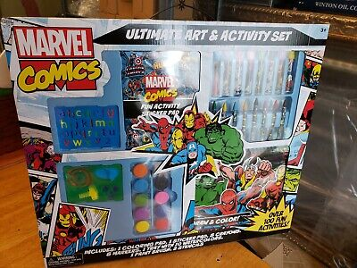 Marvel Comics Ultimate Art Kit Activity Set Over 100 Activities Stencil -