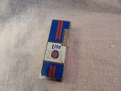 Vintage Miller Lite Advertising Lighter Rollalite Style Lilly Korea
