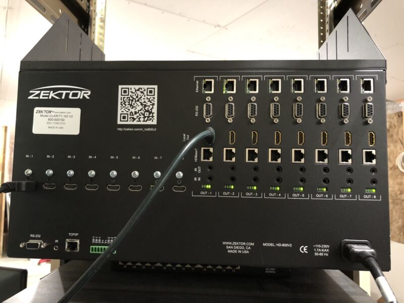 Zektor Clarity 8x8 HDMI Matrix, Used ALL HDMI ins and outs Tested and Work
