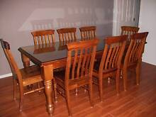 Timber dining suite with 8 chairs plus matching buffet Kurrajong Hawkesbury Area Preview
