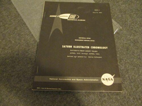 1957-65 NASA MSFC ISSUED SATURN ILLUSTRATED CHRONOLOGY ROCKET DEVELOPMENT-(MHR-4