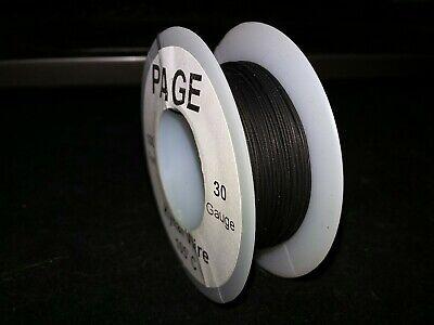 30 Awg Solid Kynar Wire Ul1423 Black 100 Ft Spool