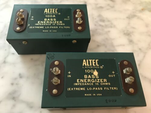 Pair of Vintage Altec Lansing Bass Energizers Model 100A