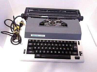 Swintec 3300c Electric Typewriter With Orignal Hard Shell Case Tested