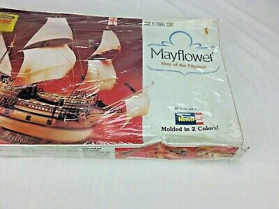 Revell 1/83 Scale Mayflower Unopened but box and packaging damaged