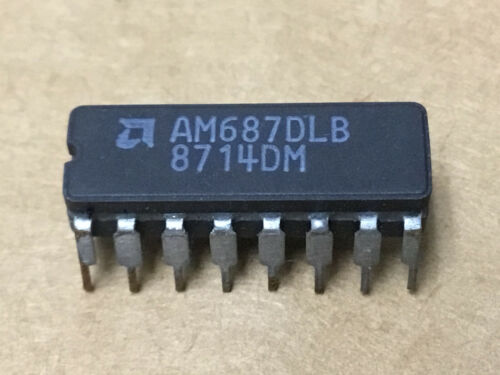 (1 PC)  AMD  AM687DLB   Voltage Comparator, Dual, 16 Pin, Ceramic, DIP