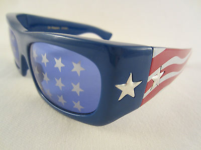 DR PEPPERS STARS & STRIPES SONNENBRILLE RED WHITE BLUE SUNGLASSES U.S.A. AMERICA (Red Star Sonnenbrille)
