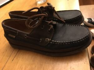 Men's Mephisto leather deck shoes