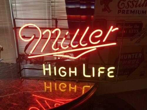 VERY RARE MILLER HIGH LIFE  AUTHENTIC ORIGINAL BAR WINDOW NEON  BEER SIGN USA