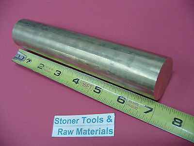 1-38 Brass C360 Round Rod 7 Long Solid New Lathe Bar Stock 1.375 Od H02