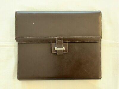 Cutter Buck American Classic Brown Leather Tri-fold Portfolio 13x11 Inches