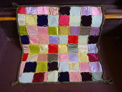 Antique Silk Velvet Patchwork Embroidery Cushion Cover Stunning!!