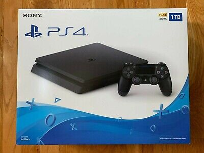 New Sony PlayStation 4 Slim 1TB Console - Jet Black