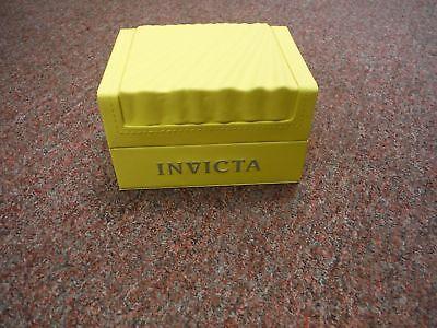 New Invicta Yellow Classic-Wave-Empty-Watch Box Case-Watch Display 12 big box