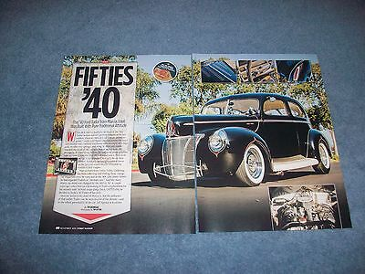 "1940 Ford Tudor Sedan Traditional Style Hot Rod Article ""Fifties '40"" 2-Door"