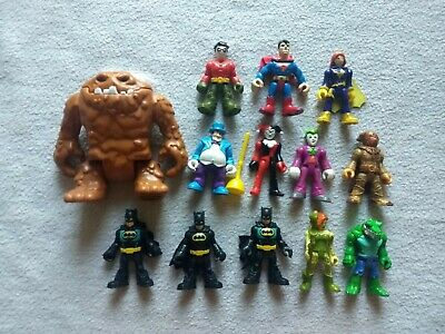 DC Imaginext lot Batman, Superheroes Fisher Price, Crock, Harley, Clayface, Ivy