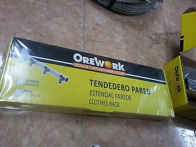 TENDEDERO TENDAL PARED INOX DE 3 POLEAS