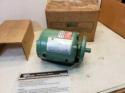 New Taco 110-185rp Single Phase Circulator Pump Motor 115v 1725 Rpm 18 Hp