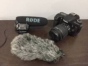 Canon 70D 18-55mm & Rode Video Mic Pro w/ VMPR Deadcat Frenchs Forest Warringah Area Preview