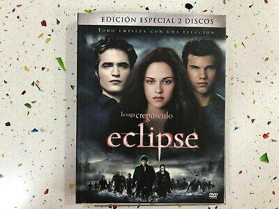 SAGA CREPUSCULO ECLIPSE 2 DVD + LIBRO EDICION ESPECIAL LIBRO DESCATALOGADO!!! comprar usado  Enviando para Brazil