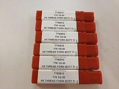 6pc 12-20 H5 Thread Roll Form Bottom Tap Tin Coated Titan Usa Tt92912 Tt136