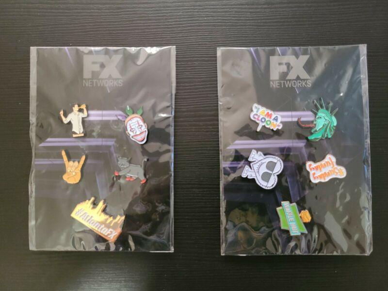 FX Networks Enamel Pin 2 Sets (10 Pins) SDCC Comic Con Exclusive - Strain Archer