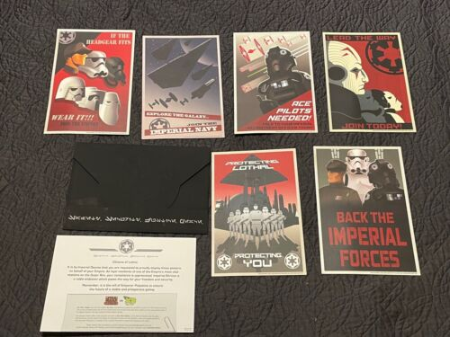 PROMOTIONAL DISNEY STAR WARS REBELS ENVELOPE W/ 6 8X8 ARTWORK CARDS JOIN THE RED