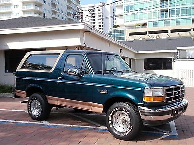 1995 Ford Bronco Eddie Bauer 81k Actual Miles Shines Like