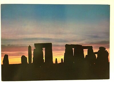 Postcard Stonehenge Wiltshire England, Prehistoric Monument, Sunset Dawn