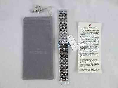 NEW Michele 20mm 5 Connect Silver Watch Band Bracelet MS20FW235009 - Deco XL Urban