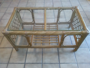 Cane & glass coffee table Mooroobool Cairns City Preview