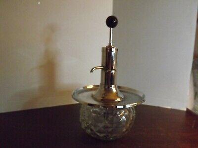 Vintage Mid-Century Glass and Chrome Pump Dispenser/Decanter