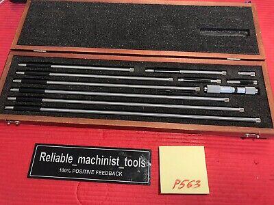Starrett Tubular Inside Micrometer Model 823e Range 4-40in Machinist Toolsp563
