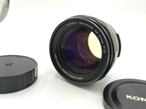 Konica Hexanon AR 57mm f/1.2 Fast Standard Prime Lens