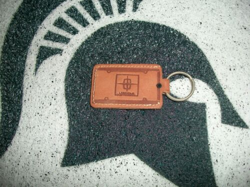 NOS LEATHER LINCOLN CONTINNENTIAL DEALERSHIP KEYCHAIN UNUSED
