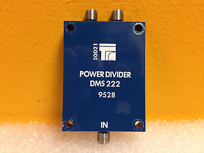 Trm Microwave Dms222 0.5 To 2.0 Ghz 20 Db Sma F Power Divider New