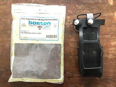 Boston Leather New Radio Holderholster Fits Motorola Apex 7000