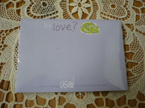 NWT GARTNER STUDIOS Is it love? Sticky Notes Pad 50 Count